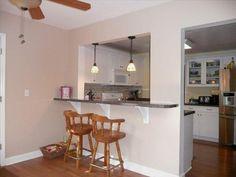 images of kitchen pass throughs - Yahoo Search Results Kitchen Window Bar, Kitchen Pass, Galley Kitchen Design, Kitchen Room Design, Kitchen Redo, Kitchen Living, New Kitchen, Kitchen Remodel, Semi Open Kitchen