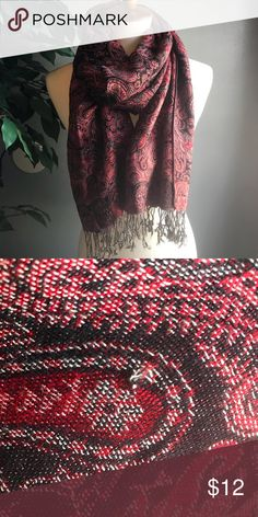 c2feaab411d Pashmina Scarf Beautiful pre-loved 100% pashmina scarf. Minor snag (see  photo