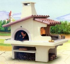 Wood fired pizza oven and BBQ Wood Fired Oven, Wood Fired Pizza, Pizza Oven Outdoor, Outdoor Cooking, Outdoor Fire, Outdoor Living, Parrilla Exterior, Outdoor Spaces, Outdoor Decor