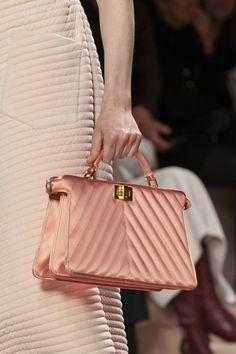 Fendi at Milan Fashion Week Fall 2020 - Details Runway Photos Mini Handbags, Gucci Handbags, Tote Handbags, Purses And Handbags, Ladies Handbags, Leather Purses, Leather Handbags, Textiles, Fendi Bags