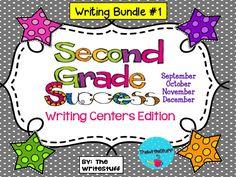 Second Grade Success: Writing Centers Edition Set #1 Sept-Dec