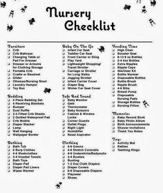{Mommy Must-Haves: Nursery Checklist}