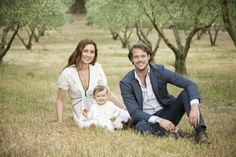 Prince Felix and Princess Claire of Luxembourg with their daughter Princess Amalia ahead   of her 1st birthday. 6/2/2015