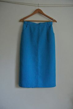 Delightful blue below the knee pencil skirt by 365daysofvintage, £20.00