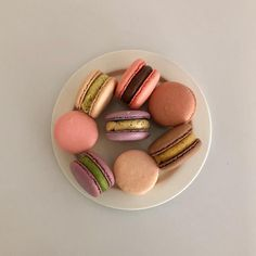 macarons french cookie macarons aesthetics aesthetic soft sweet pastel cream creamy food foodie milk chocolate strawberry colorful dessert tasty snack sweets r o s i e Yummy Snacks, Yummy Food, Enjoy Your Meal, French Cookies, Colorful Desserts, Cafe Food, Aesthetic Food, Junk Food, Sweet Recipes