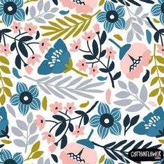 """602 Synes godt om, 11 kommentarer – Marina Oliveira (@cottonflowerstudio) på Instagram: """"New Pattern! I simplified the original pattern. Less is More! #cottonflowerstudio #surfacedesign…"""""""