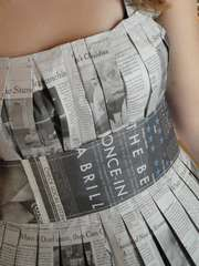 Newspaper Dress How-To, great for an ABC party