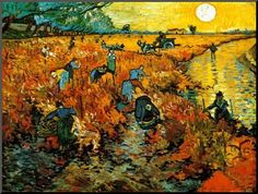 """Vincent Van Gogh /""""The Sower/""""  Mounted Color Offset Lithograph 1936"""