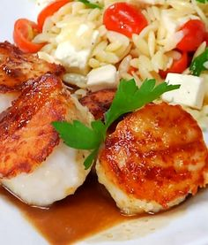I Love Food, Good Food, Scallop Recipes, Scallops, Fish And Seafood, Entrees, Clean Eating, Dinner Recipes, Appetizers