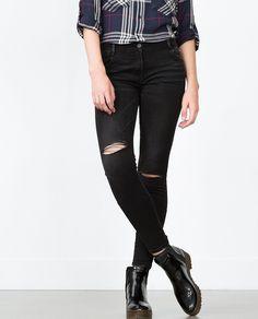 27.99$  Watch here - https://alitems.com/g/1e8d114494b01f4c715516525dc3e8/?i=5&ulp=https%3A%2F%2Fwww.aliexpress.com%2Fitem%2F2015-Women-Fashion-Black-Denim-Jeans-with-Knee-Ripped-Holes-Skinny-Pencil-Pants-Trousers-HIGH-QUALITY%2F32546880929.html - 2015 Women Fashion Black Denim Jeans with Knee Ripped Holes Skinny Pencil Pants Trousers HIGH QUALITY
