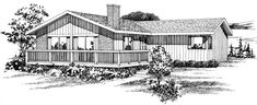 House Plan 55410 | Contemporary    Plan with 1244 Sq. Ft., 3 Bedrooms, 2 Bathrooms