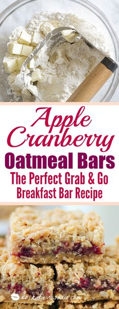 Omg! I love this bars so much! It is seriously so easy to make these apple cranberry oatmeal bars. I make them for the morning to have with my coffee. I toast them a little in my oven to get crispy on top! Soooo good! Pinning for later!