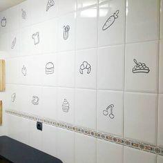 azulejos llenos de alimentos retovinilo vinilos decorativos azulejos pegatinas