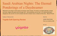 Misha blog post about our frozen yogurt and bubble tea    read full review post http://saudiarabianights.blogspot.com/2012/02/yogette-soft-opening-review.html