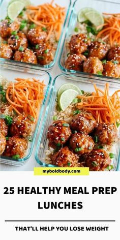 Easy Healthy Meal Prep, Healthy Lunches For Work, Prepped Lunches, Easy Healthy Recipes, Easy Meals, Dinner Healthy, Healthy Meal Prep Lunches, Healthy Delicious Meals, Healthy Vegetarian Lunch Ideas