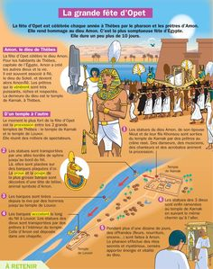 Fiche exposés : La grande fête d'Opet Life In Ancient Egypt, Ancient History, Luxor, French Class, French Words, Learn French, Ancient Civilizations, French Language, Foreign Languages