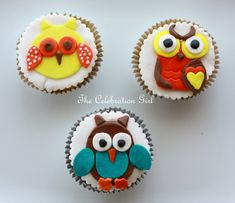 How to make Owl cupcake toppers with fondant