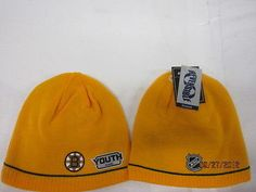 BOSTON BRUINS YOUTH REEBOK REVERSIBLE CENTER ICE STOCKING CAP HAT NWT
