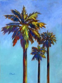Santa Rita Palms I Mural - Paul Brent  Murals Your Way