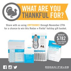 Starting today, R+F will be counting down to Thanksgiving by posting what we're thankful for—and we want to hear from you. We'll be selecting one submission each day to win a #RFThanks holiday gift basket.*