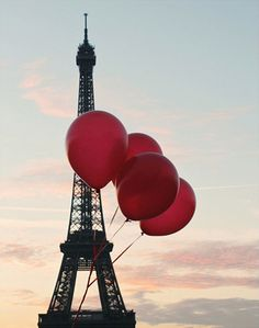 Red Balloons In Paris by Rebecca Plotnick