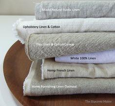 Favorite Linen Fabrics for Slipcovers