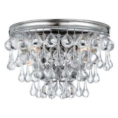Shop for Crystorama Calypso Collection Polished Chrome 2-light Wall Sconce With Clear Glass Teardrops. Get free delivery at Overstock.com - Your Online Home Decor Destination! Get 5% in rewards with Club O!