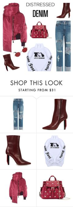 """""""😎"""" by ivka-detektivka ❤ liked on Polyvore featuring SJYP, Vetements, Wallace, Balenciaga, RED Valentino, Murdock London and distresseddenim"""