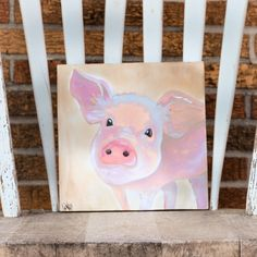 Amazing Memphis BBQ Cook Off Pig Handpainted on Wood by Taterbuggin' We Like Big Butts and You Will Too! This is Lindy's latest handcrafted wall art and home decor piece. This is everything Memphis! G