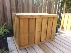 We built 2 large chests/benches to sit on our deck.  This is for pool storage since this summer we were able to purchase a 15' inflatable Intex pool from Kijiji.  The plan is to edge the top of the chest so that a cushion can be placed there to make seating more comfortable.