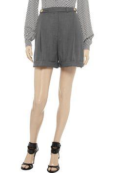 Dinne stretch-wool shorts by Diane von Furstenberg