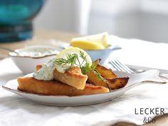 lecker & co: Fischstäbchen mit Wedges und Remoulade