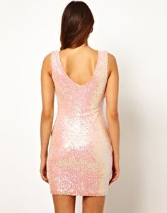 Image 2 of Lipsy Mini Dress in Iridescent Sequin