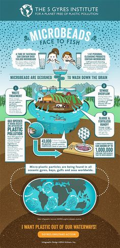 Microbeads - Face to Fish by 5gyres.org via lakeluv #Infographic #Microbeads #Environment