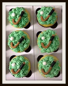 Field hockey birthday cupcakes