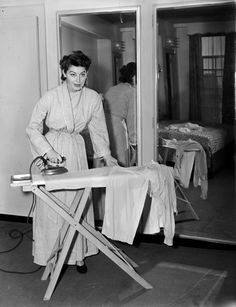 Even Ava Gardner had to iron her own clothes.