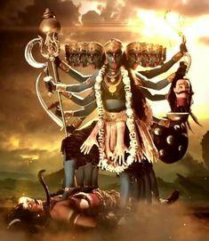 Jay Maa Kali, Kali Ma, Durga Kali, Shiva Shakti, Kali Goddess, Goddess Art, Symbols Of Strength, Beautiful Images