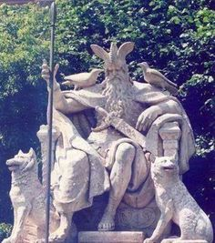 Wotan Denkmal in Hannover, Germany/ sure hope the muslims as they continue their takeover, don't destroy this like they did the sculptures of the Buddha in other countries Norse Pagan, Norse Mythology, Germanic Tribes, Folk, Viking Art, Norse Vikings, Asatru, Anglo Saxon, Gods And Goddesses