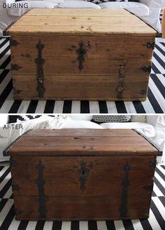 Before U0026 After: Wooden Trunk Make Under