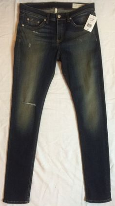 1f27ba23fb41 RAG   BONE   JEAN High Rise Skinny Jeans MATEOS Women s Size 29 NEW WITH  TAGS