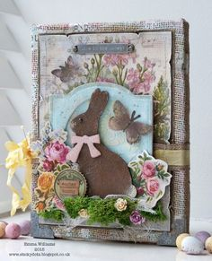 Do this with a felted bunny for Easter!