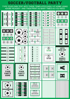 Soccer Party Printable Templates
