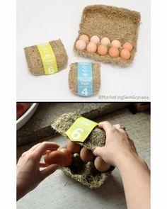 Mod 12 - Happy Eggs Packaging Eco-friendly egg packaging made of hay. Designed by Maja Szczypek. Egg Packaging, Clever Packaging, Innovative Packaging, Print Packaging, Packaging Design, Packaging Ideas, Carton Design, Flyer, Box Design
