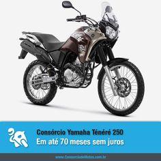A Yamaha Ténéré 250 chega à linha 2016 com motor flex e você já pode programar a compra da sua pelo Consórcio de Motos. Veja: https://www.consorciodemotos.com.br/noticias/yamaha-tenere-2016-em-ate-70-meses-sem-juros?idcampanha=288&utm_source=Pinterest&utm_medium=Perfil&utm_campaign=redessociais