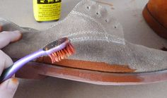 Learn how to dye suede - Dream a Little Bigger