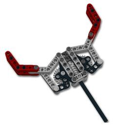 Attaching a grabber to a forklift mechanism? - posted in LEGO Technic, Mindstorms & Model Team: Thanks to the posts on this forum I have modified a simple grabber that I want to put onto an NXT line follower robot to grab a soda can (I still need to play