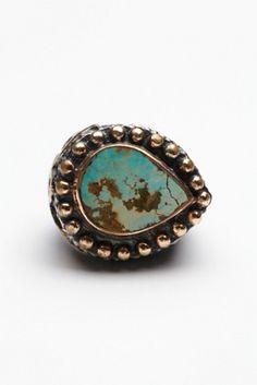 Bora Womens Turquoise Teardrop Ring