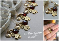 Fall Wedding Bridesmaid Necklaces - Personalized