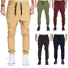 Men-Drop-Crotch-Joggers-Sweat-Pants-Chinos-Khakis-Hip-Hop-Sports-Casual-Trousers