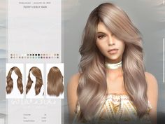 All Hairstyles, Female Hairstyles, Pelo Sims, Sims 4 Collections, Hair Sketch, Sims Hair, Sims Mods, The Sims4, Sims 4 Custom Content